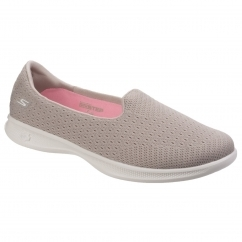 Skechers Go Step Lite Origin Slip On Ladies Shoes Taupe