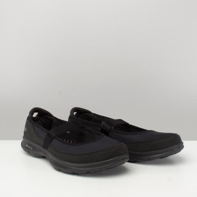 7d0a1ec2ae Skechers GO STEP - ORIGINAL Ladies Slip On Ballet Flats Black| Shuperb
