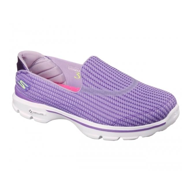 0cb3882003f5 Skechers GO WALK 3 Ladies Trainers Purple