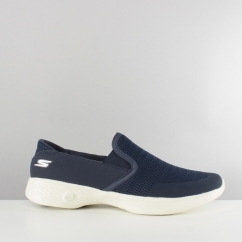 Skechers GO WALK 4 ATTUNED Ladies Mesh Trainers Navy