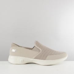 Skechers GO WALK 4 ATTUNED Ladies Mesh Trainers Taupe