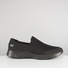 Skechers GO WALK 4 CONTAIN Mens Slip On Trainers Black