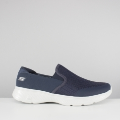 Skechers GO WALK 4 CONTAIN Mens Slip On Trainers Navy