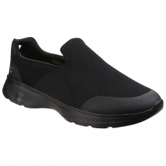 Skechers GO WALK 4 EXPERT Mens Comfy Slip On Trainers Black | Shuperb