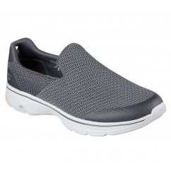 Skechers GO WALK 4 EXPERT Mens Slip On Trainers Charcoal | Shuperb