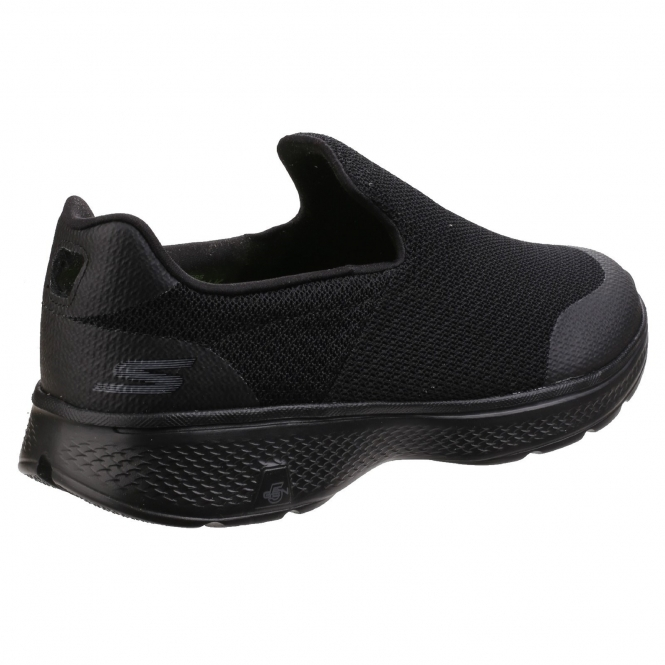 Skechers GO WALK 4 EXPERT Mens Comfy Slip On Trainers Black  4a6585ee3a0