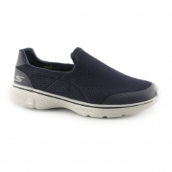 Skechers GO WALK 4-INCREDIBLE Mens Sports Shoes Navy/Grey