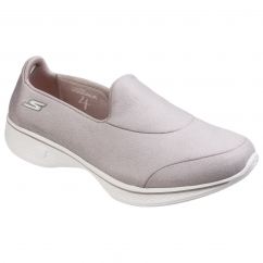 Skechers Go Walk 4 Inspire Slip On Ladies Shoes Taupe