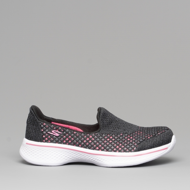 Girls Walking Trainers Black/Hot Pink