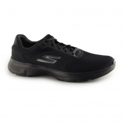 Skechers GO WALK 4 Mens Comfort Gym Sports Trainers Black