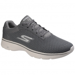 Skechers GO WALK 4 - NOBLE Mens Fitness Trainers Charcoal | Shuperb