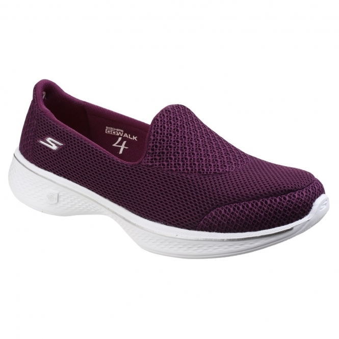 skechers slip on ladies trainers