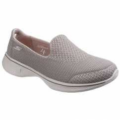 Skechers Go Walk 4 Propel Slip On Ladies Shoes Taupe