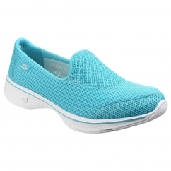 Skechers Go Walk 4 Propel Slip On Ladies Shoes Turquoise