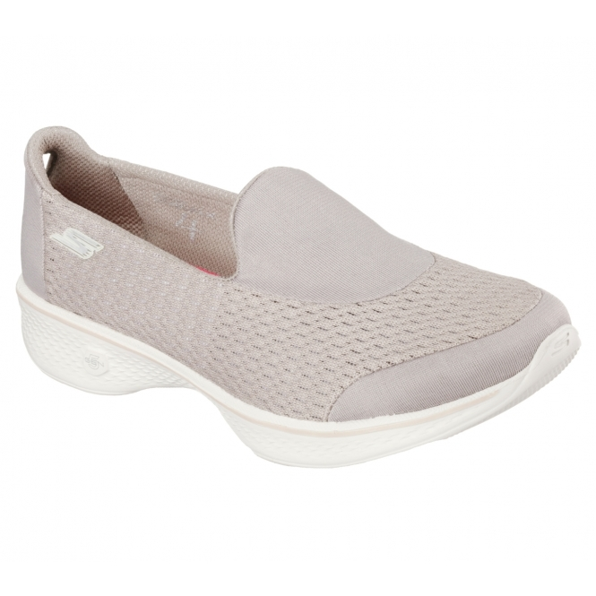 3a0bab9eecf Skechers GO WALK 4 PURSUIT Ladies Trainers Taupe