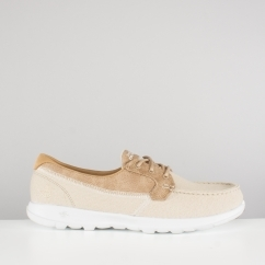 Skechers GO WALK LITE Ladies Boat Shoes Natural