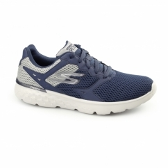 Skechers GORUN 400 Mens Sport Fitness Lace Up Trainers Navy/Grey
