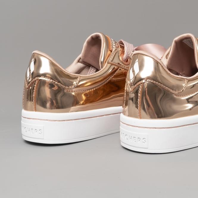 75d39dec8591 Skechers HI-LITES LIQUID BLING Ladies Trainers Rose Gold - 958