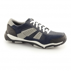 Skechers LARSON - TOTES Mens Suede Trainers Navy/Grey