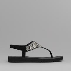fd29394f6e94bf Skechers MEDITATION GYPSY GLAM Ladies Toe Post Sandals Black