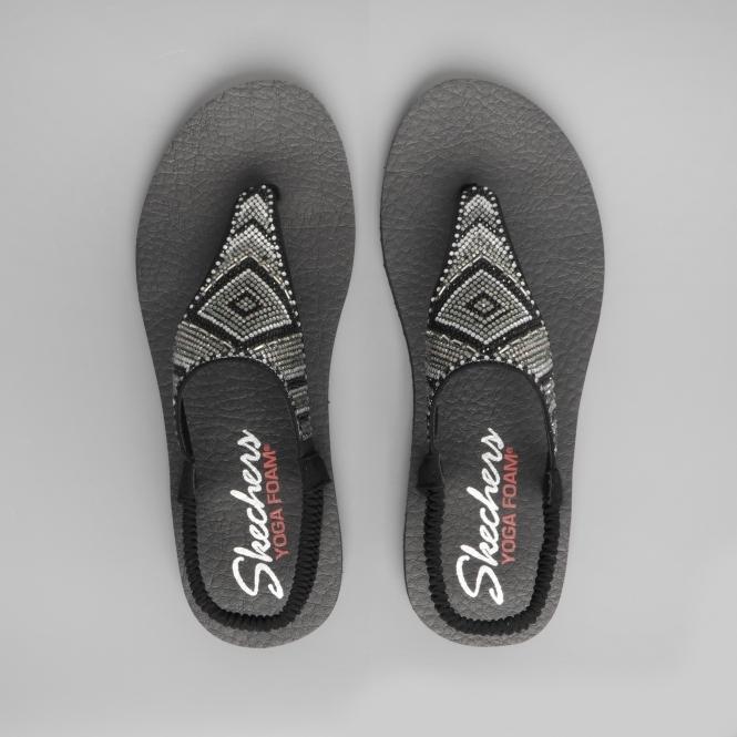 13a318d46e41 Skechers MEDITATION GYPSY GLAM Ladies Toe Post Sandals Black