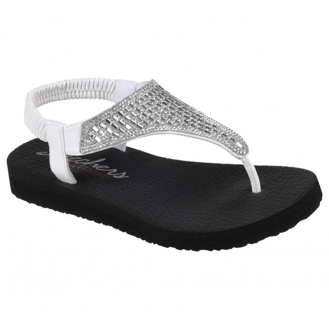 1c1b273d9b91 Skechers MEDITATION - ROCK CROWN Ladies Toe Post Sandals White