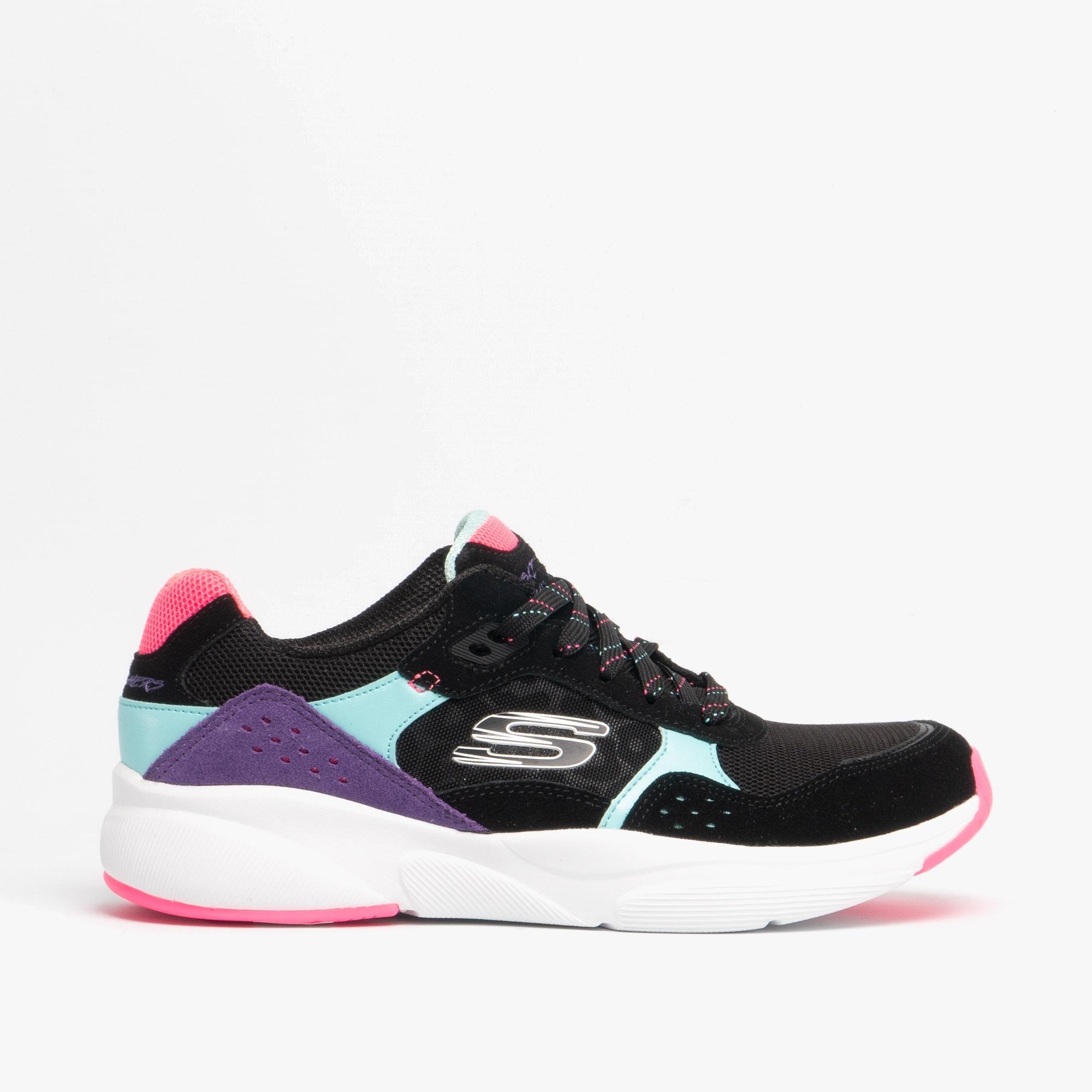 Skechers MERIDIAN NO WORRIES Ladies Sneakers Trainers Black