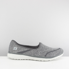 Skechers MICROBURST ALL-MINE Ladies Slip On Trainers Grey