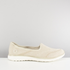 MICROBURST ALL-MINE Ladies Slip On Trainers Natural