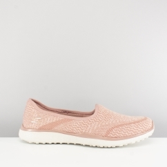 MICROBURST ALL-MINE Ladies Slip On Trainers Rose Pink