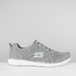 Skechers MICROBURST ON-THE-EDGE Ladies Slip On Trainers Grey