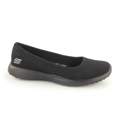 Skechers MICROBURST - ONE UP Ladies Woven Pumps Black