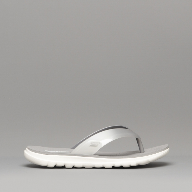be5a7927ceaf Skechers NEXTWAVE ULTRA Ladies Flip Flops Sandals Grey White