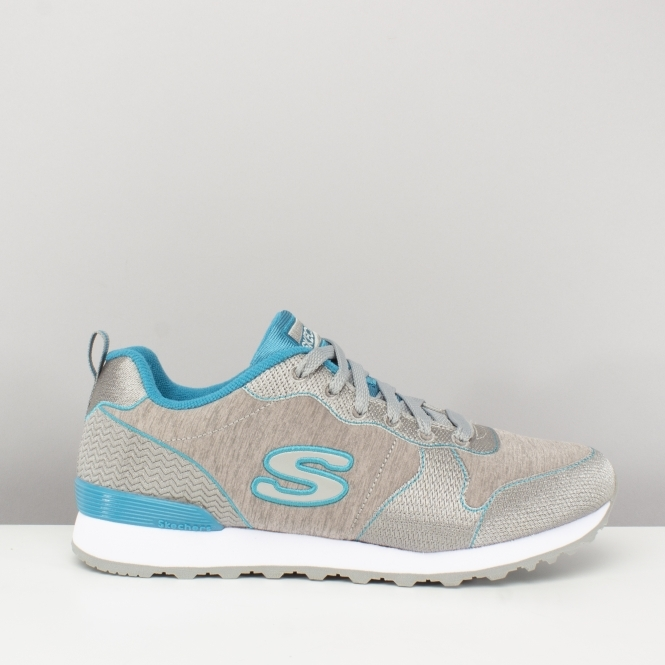 c5d5a1c32a8 OG 85-QUICK STITCH Ladies Retro Sports Trainers Grey/Blue