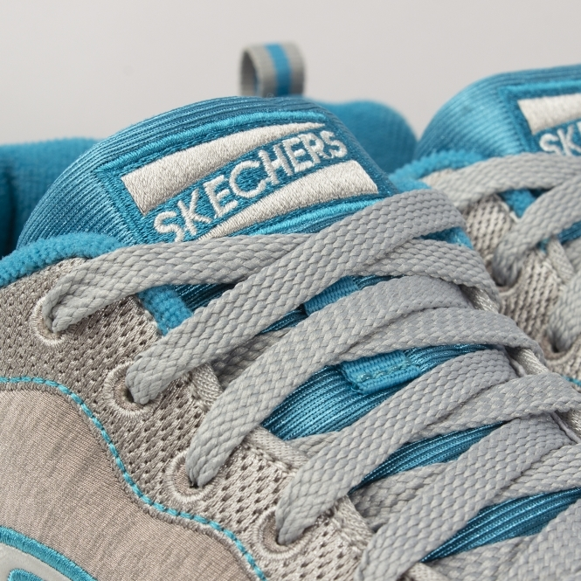 984499a1336b5 Skechers OG 85-QUICK STITCH Ladies Sports Trainers Grey/Blue | Shuperb