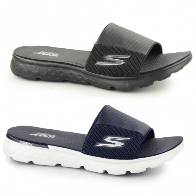 Buy skechers slippers mens white > OFF54% Discounted