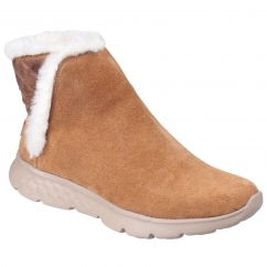 Skechers On The Go 400 Cozies Pull on Boot Ladies Chestnut