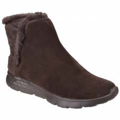 Skechers On The Go 400 Cozies Pull on Boot Ladies Chocolate