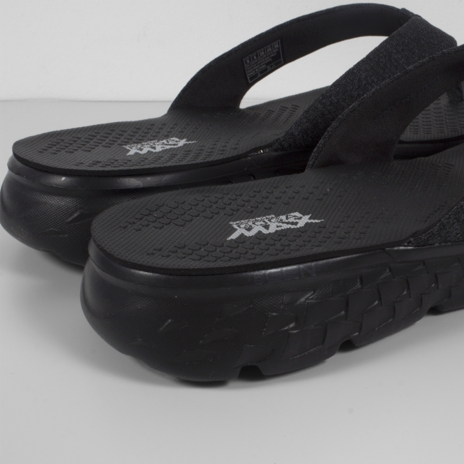 9377e923637142 ... Skechers ON THE GO 400-VIVACITY Ladies Toe Post Flip Flop Black  detailed pictures 8e402  Skechers women ...