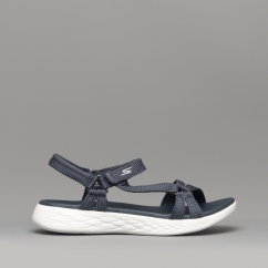 e7cbed45af0d5c Skechers ON-THE-GO 600 BRILLIANCY Ladies Sandals Navy - 15316