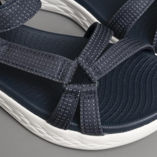 628a0d213d6a4 Skechers ON-THE-GO 600 BRILLIANCY Ladies Sandals Navy