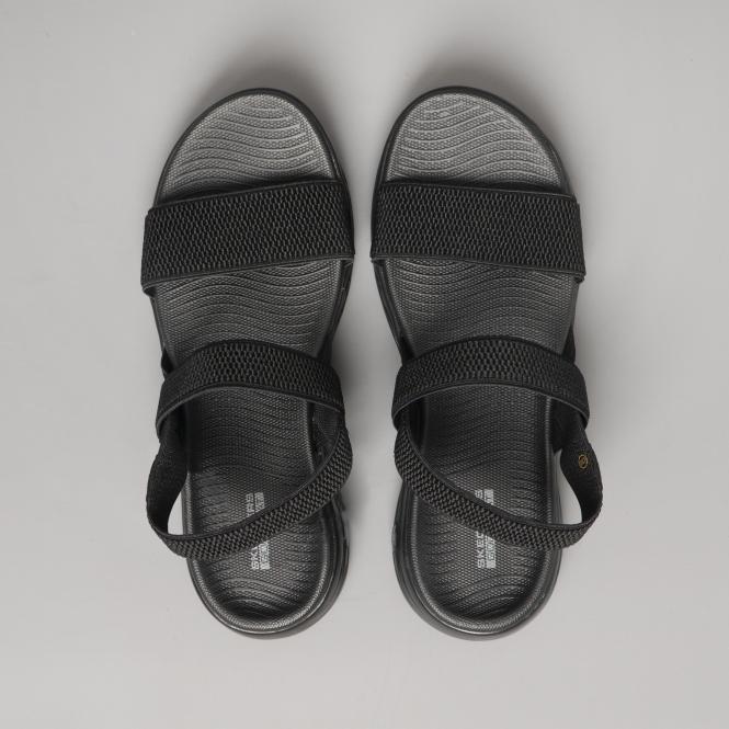 Skechers On The Go 600 Flawless Ladies Slingback Sandals Black Shuperb
