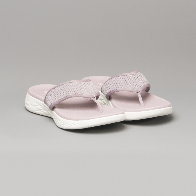 2b446a6fe99f Skechers ON-THE-GO 600 GLOSSY Ladies Flip Flop Sandals Lilac - 16150