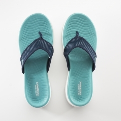 Skechers ON-THE-GO 600 Ladies Flip Flops Navy/Turquoise