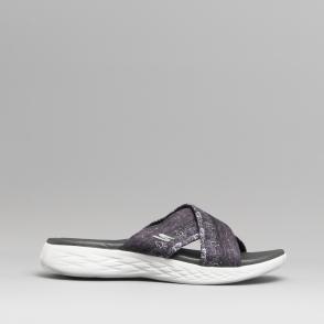e87d5bcc151a Skechers ON-THE-GO 600 MONARCH Ladies Floral Print Mule Sandals Black
