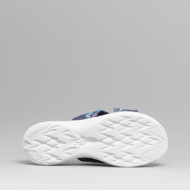 30731839db2b Skechers ON-THE-GO 600 MONARCH Ladies Floral Print Mule Sandals Navy