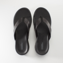 Skechers ON-THE-GO 600 POLISHED Ladies Flip Flops Black