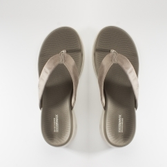Skechers ON-THE-GO 600 POLISHED Ladies Flip Flops Taupe