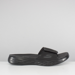 ON-THE-GO 600 REGAL Mens Touch Fasten Strap Mule Flip Flops Black