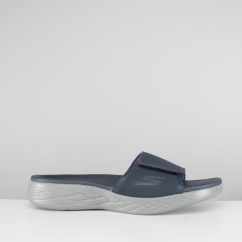 ON-THE-GO 600 REGAL Mens Touch Fasten Strap Mule Flip Flops Navy